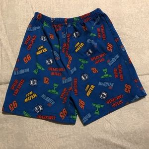 Disney Cars Lightning McQueen Pajama Shorts 3T